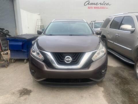 2015 Nissan Murano for sale at America Auto Wholesale Inc in Miami FL