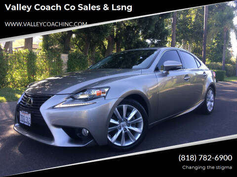 2014 Lexus IS 250 for sale at Valley Coach Co Sales & Lsng in Van Nuys CA