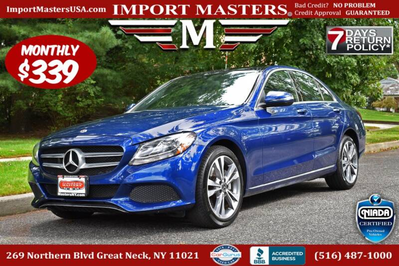 2018 Mercedes-Benz C-Class for sale at European Masters in Great Neck NY