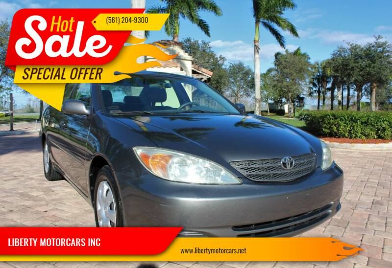 2002 Toyota Camry for sale at LIBERTY MOTORCARS INC in Royal Palm Beach FL