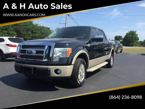 2010 Ford F-150 for sale at A & H Auto Sales in Greenville SC