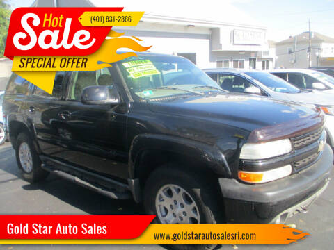 2002 Chevrolet Tahoe for sale at Gold Star Auto Sales in Johnston RI