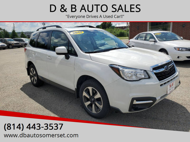 2017 Subaru Forester for sale at D & B AUTO SALES in Somerset PA