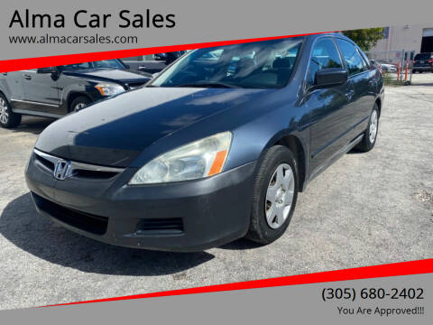 2006 Honda Accord for sale at Alma Car Sales in Miami FL