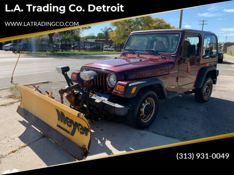 2002 Jeep Wrangler for sale at L.A. Trading Co. Woodhaven - L.A. Trading Co. Detroit in Detroit MI