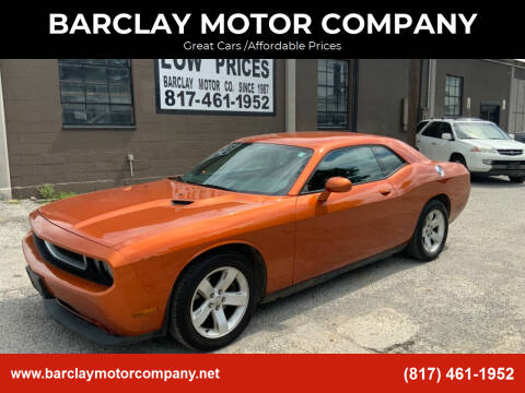 2011 Dodge Challenger for sale at BARCLAY MOTOR COMPANY in Arlington TX