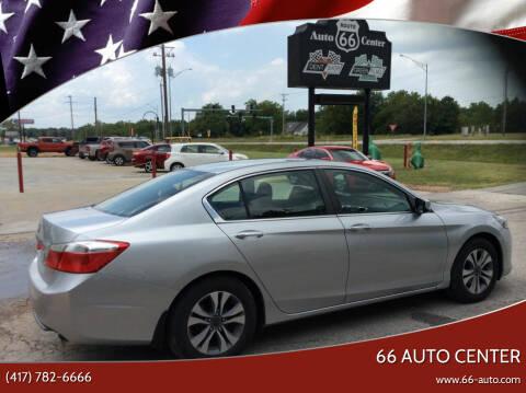 2013 Honda Accord for sale at 66 Auto Center in Joplin MO
