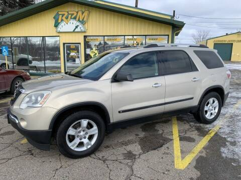 2010 GMC Acadia for sale at RPM AUTO SALES in Lansing MI