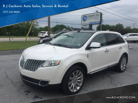 2011 Lincoln MKX for sale at R J Cackovic Auto Sales, Service & Rental in Harrisburg PA