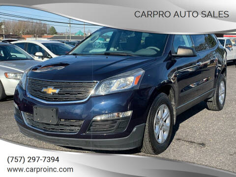 2015 Chevrolet Traverse for sale at Carpro Auto Sales in Chesapeake VA