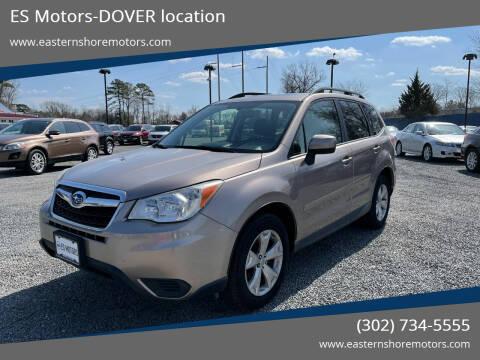2014 Subaru Forester for sale at ES Motors-DAGSBORO location - Dover in Dover DE