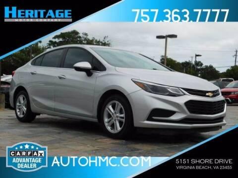2017 Chevrolet Cruze for sale at Heritage Motor Company in Virginia Beach VA