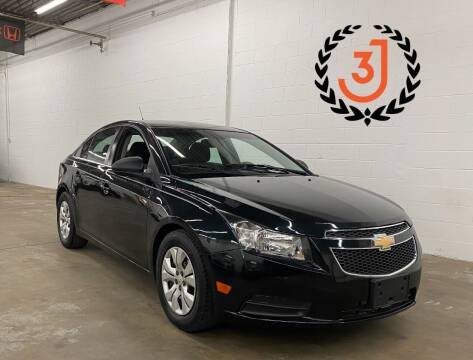 2012 Chevrolet Cruze for sale at 3 J Auto Sales Inc in Arlington Heights IL