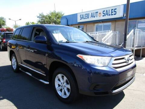 2012 Toyota Highlander for sale at Salem Auto Sales in Sacramento CA