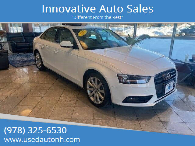 2013 Audi A4 for sale at Innovative Auto Sales in North Hampton NH