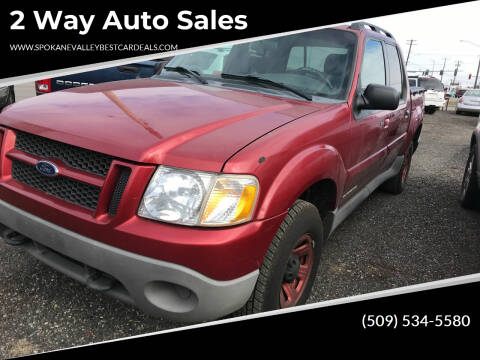 2001 Ford Explorer Sport Trac for sale at 2 Way Auto Sales in Spokane Valley WA