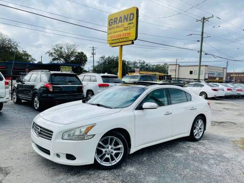 2011 Nissan Maxima for sale at Grand Auto Sales in Tampa FL