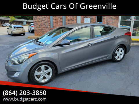 2013 Hyundai Elantra for sale at Budget Cars Of Greenville in Greenville SC