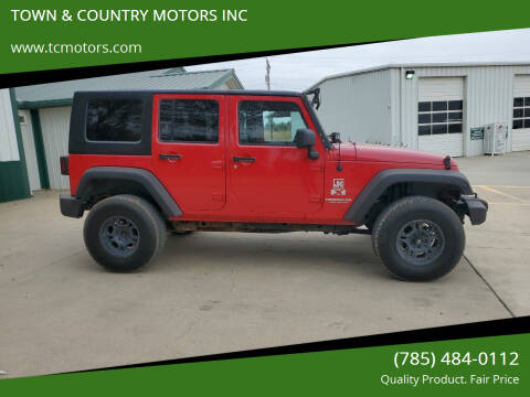 2007 Jeep Wrangler Unlimited for sale at TOWN & COUNTRY MOTORS INC in Meriden KS