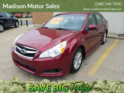 2011 Subaru Legacy for sale at Madison Motor Sales in Madison Heights MI