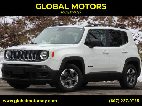 2017 Jeep Renegade for sale at GLOBAL MOTORS in Binghamton NY