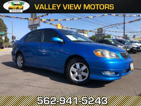 2008 Toyota Corolla for sale at Valley View Motors in Whittier CA