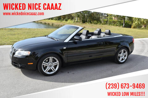 2007 Audi A4 for sale at WICKED NICE CAAAZ in Cape Coral FL