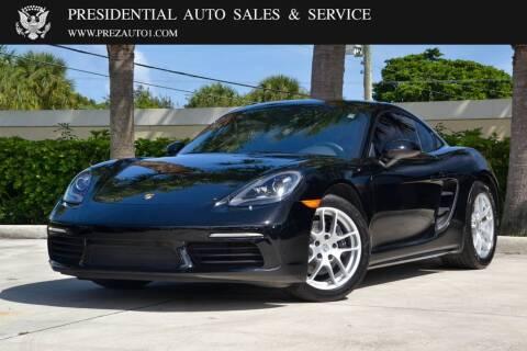 2018 Porsche 718 Cayman for sale at Presidential Auto  Sales & Service in Delray Beach FL