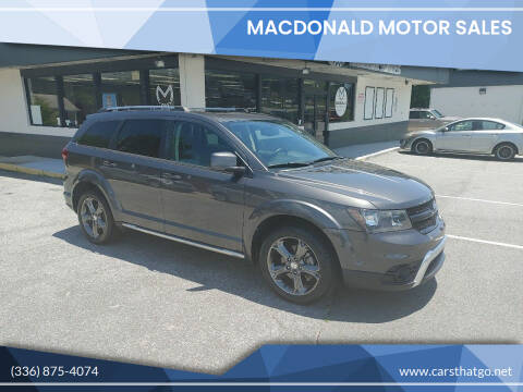 2014 Dodge Journey for sale at MacDonald Motor Sales in High Point NC