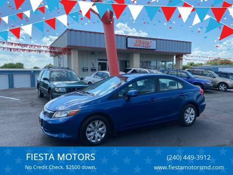 2012 Honda Civic for sale at FIESTA MOTORS in Hagerstown MD