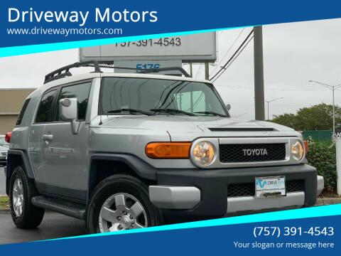 2007 Toyota FJ Cruiser for sale at Driveway Motors in Virginia Beach VA