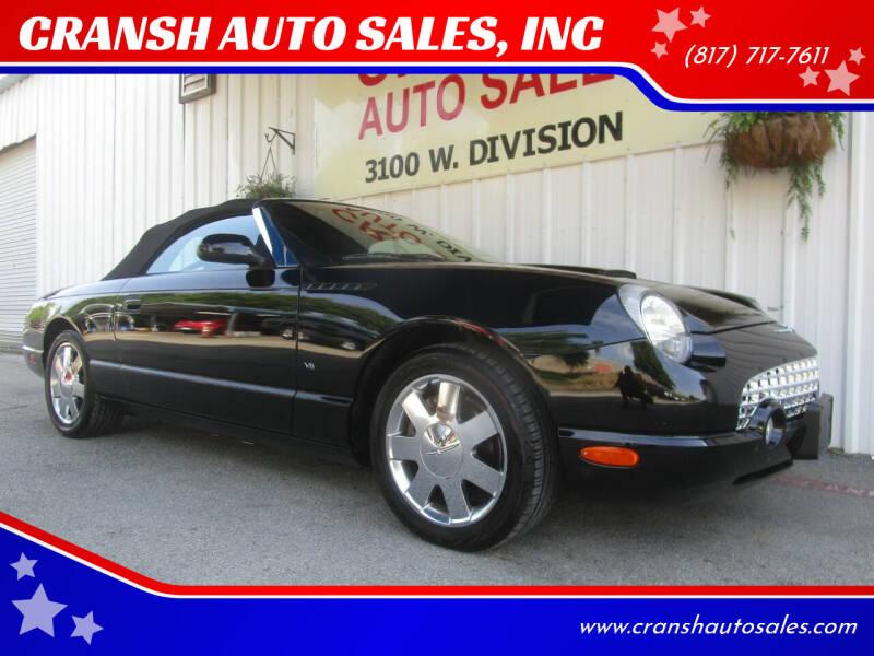 2003 Ford Thunderbird for sale at CRANSH AUTO SALES, INC in Arlington TX