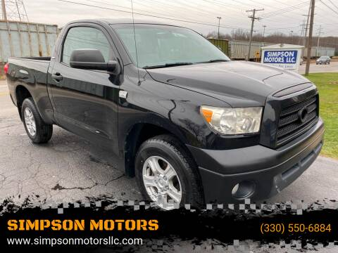 2007 Toyota Tundra for sale at SIMPSON MOTORS in Youngstown OH