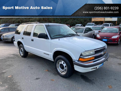 1999 Chevrolet Blazer for sale at Sport Motive Auto Sales in Seattle WA