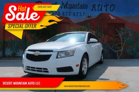 2012 Chevrolet Cruze for sale at DESERT MOUNTAIN AUTO LLC in Tucson AZ