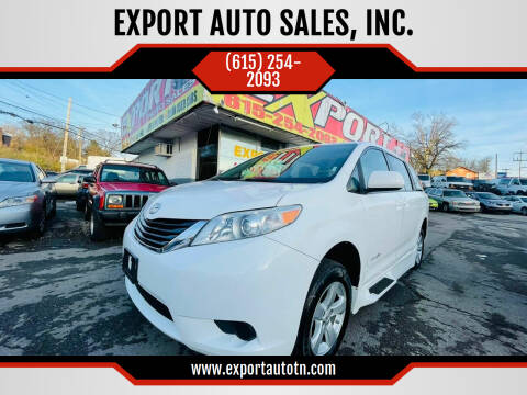 2011 Toyota Sienna for sale at EXPORT AUTO SALES, INC. in Nashville TN