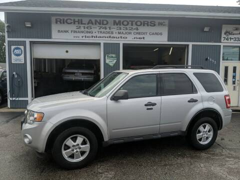 2012 Ford Escape for sale at Richland Motors in Cleveland OH