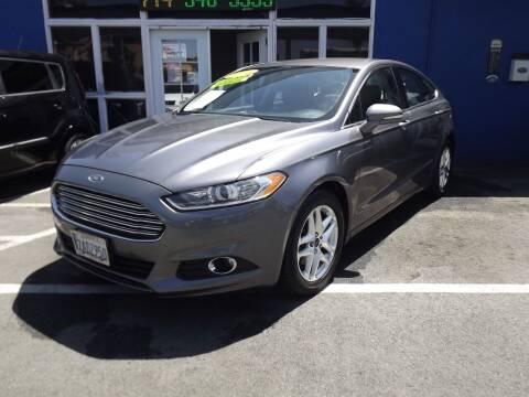 2013 Ford Fusion for sale at PACIFICO AUTO SALES in Santa Ana CA