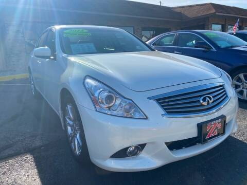 2013 Infiniti G37 Sedan for sale at Zs Auto Sales in Kenosha WI