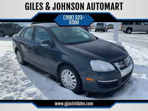 2008 Volkswagen Jetta for sale at GILES & JOHNSON AUTOMART in Idaho Falls ID