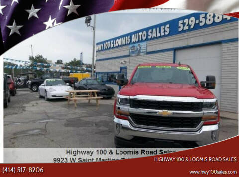 2017 Chevrolet Silverado 1500 for sale at Highway 100 & Loomis Road Sales in Franklin WI