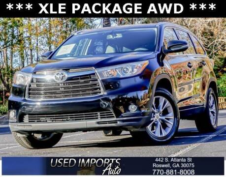 2015 Toyota Highlander for sale at Used Imports Auto in Roswell GA