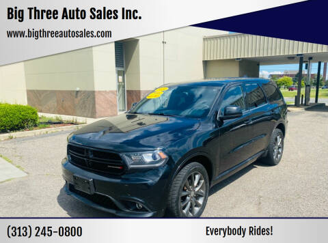 2014 Dodge Durango for sale at Big Three Auto Sales Inc. in Detroit MI