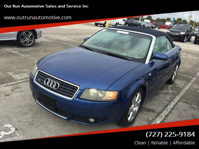 2006 Audi A4 for sale at Out Run Automotive Sales and Service Inc in Tampa FL