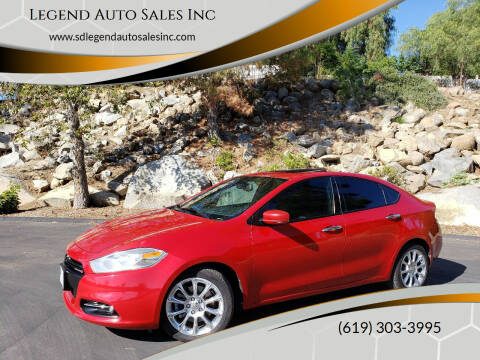 2013 Dodge Dart for sale at Legend Auto Sales Inc in Lemon Grove CA