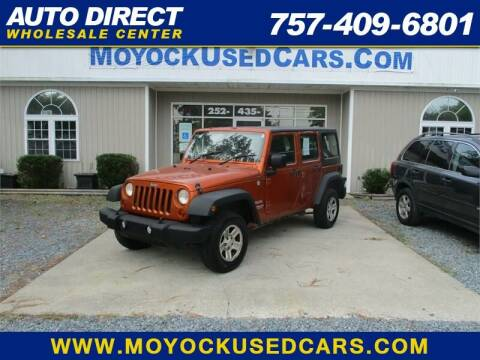 2011 Jeep Wrangler Unlimited for sale at Auto Direct Wholesale Center in Moyock NC