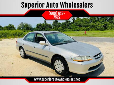 1999 Honda Accord for sale at Superior Auto Wholesalers in Burlington NJ
