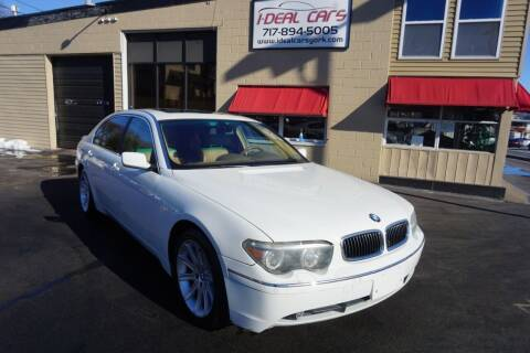 2004 BMW 7 Series for sale at I-Deal Cars LLC in York PA