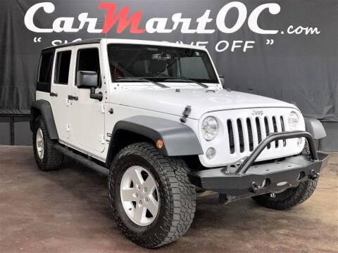 2017 Jeep Wrangler Unlimited for sale at CarMart OC in Costa Mesa CA