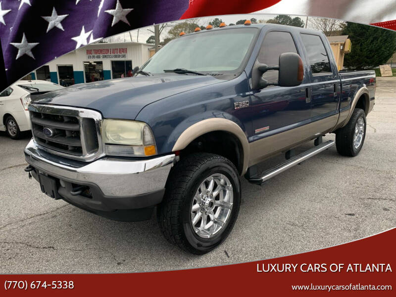 2004 Ford F-350 Super Duty for sale at Luxury Cars of Atlanta in Snellville GA